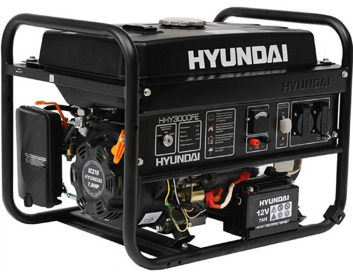 hyundai генераторы бензиновые