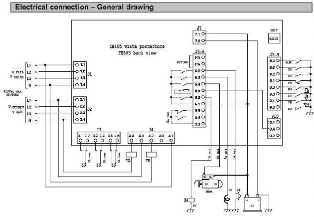 Схема подключения автоматики ТЕ-805.