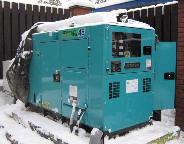 бензогенератор зимой